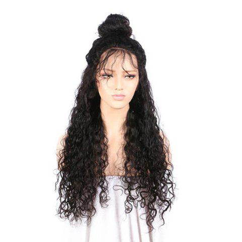 Unique Free Part Long Kinky Curly Lace Front Synthetic Wig