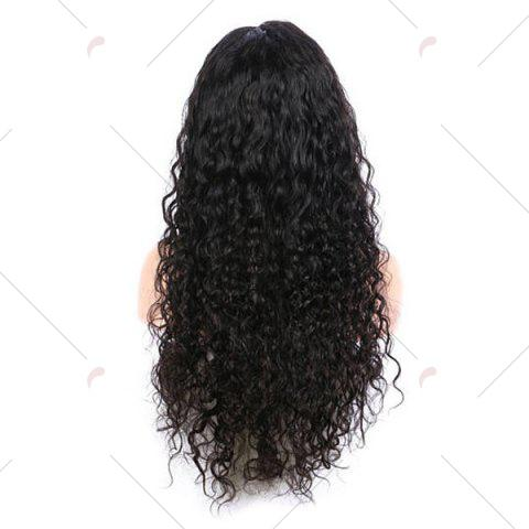 Outfit Free Part Long Kinky Curly Lace Front Synthetic Wig - BLACK  Mobile