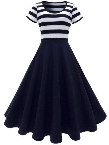 Online Stripe Midi Dress DEEP BLUE XL
