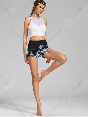 Outfit Quick Dry Lights Printed Mini Fitness Tights - S BLACK Mobile