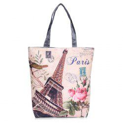 Printed Canvas Shoulder Bag - PALOMINO