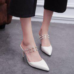 Rivets en plastique transparent Chaussons - Blanc