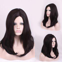Long Side Parting Natural Straight Synthetic Wig