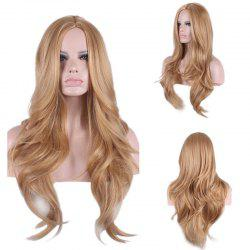 Long Center Parting Wavy Synthetic Wig