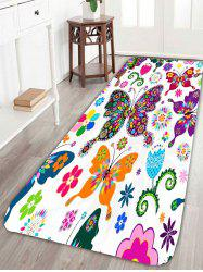 Skidproof Floral Butterfly Bath Rug