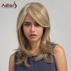 Adiors Long Colormix Side Bang Straight Synthetic Wig