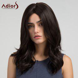 Adiors Long Center Part Tail Upwards Slightly Curly Synthetic Wig