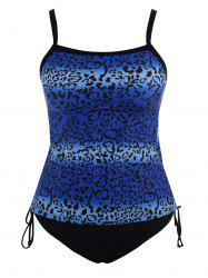 Padded Plus Size Leopard Print Bathing Suit
