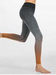 Ombre Striped Ninth Workout Leggings