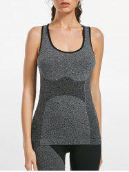 Marled Racerback Sports Tank Top - GRAY