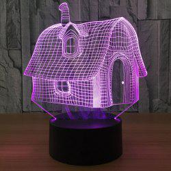 Color Change 3D House Shape Touch Night Light