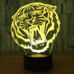 3D Tiger Shape Color Changing LED Decorative Night Light - TRANSPARENT
