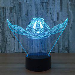 Sea Turtle Shape Color Changing Touch 3D Night Light - TRANSPARENT