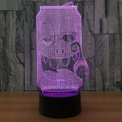 3D Cartoon Coke Bottle LED Color Changing Night Light