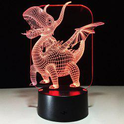 3D Dinosaur Shape Decorative Color Changing Night Light - TRANSPARENT