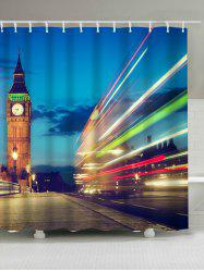 Waterproof 3D Tower Scenic Print Shower Curtain