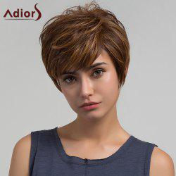 Adiors Short Side Bang Colormix Layered Straight Pixie Synthetic Wig