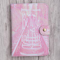 PU Leather Print Passport Holder - PINK