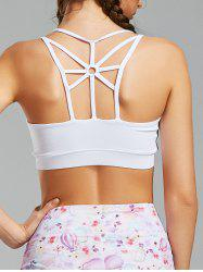 Sports Back Cutout Strappy  Padded Bra -
