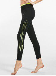 Two Tone Side Cutout Cropped Sports  Leggings