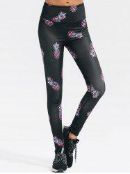 Pineapple Print Gym Yoga Leggings -