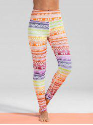 Geometric Print Gym Yoga Leggings -