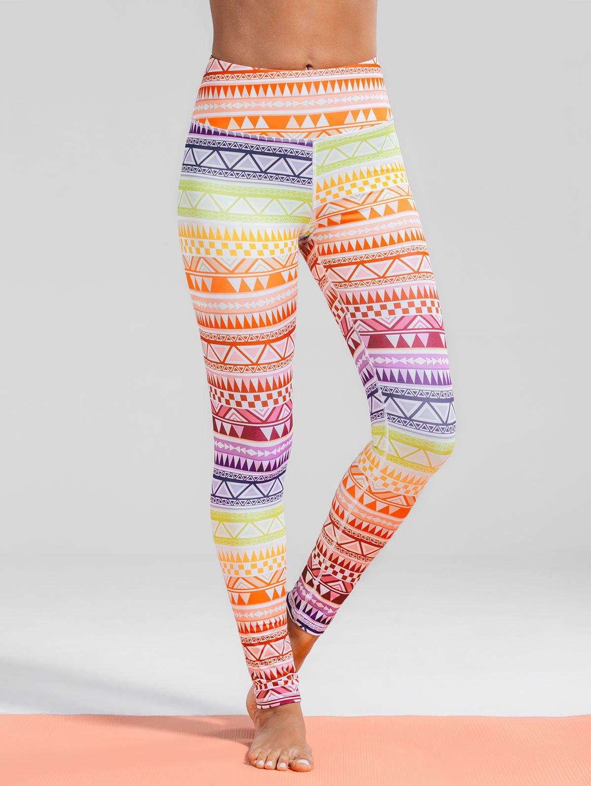 Store Geometric Print Gym Yoga Leggings