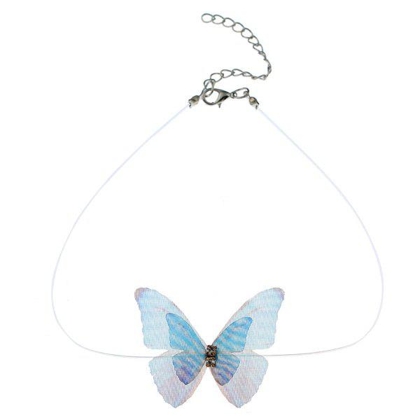 Rhinestone Butterfly Mesh Choker NecklaceJEWELRY<br><br>Color: COLORMIX; Item Type: Chokers Necklace; Gender: For Women; Style: Trendy; Shape/Pattern: Insect; Length: 30CM; Weight: 0.0300kg; Package Contents: 1 x Choker;