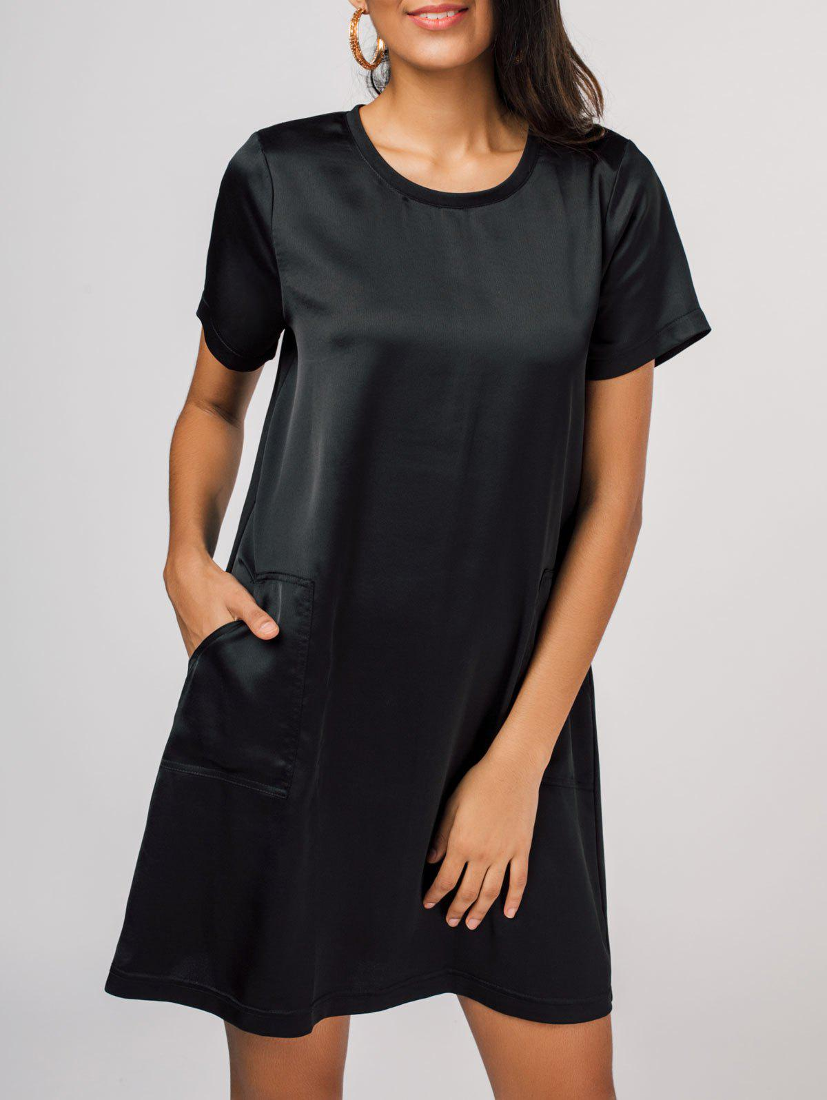 Robe T-Shirt Col Rond Poches Latérales