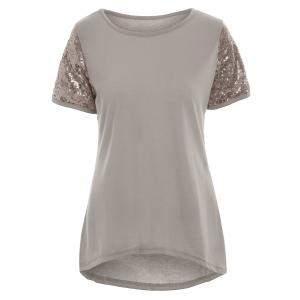 High Low Sequin Top