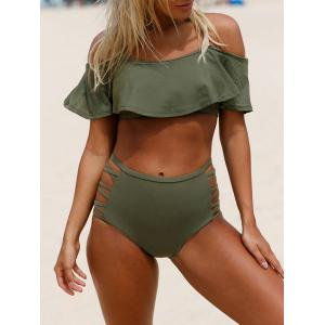 Criss Cross Cold Shoulder Bikini Set