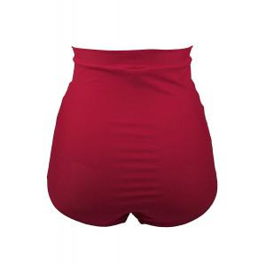 High Waisted Retro Bikini Bottom - RED 2XL