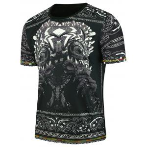Short Sleeve Terrible Monster Printed T-shirt