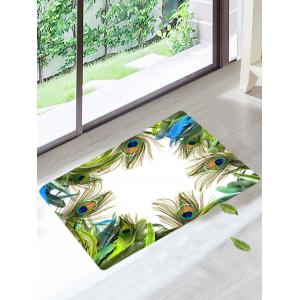 Soft Anti Slip Peacock Feather Bathroom Mat - Colormix - W20 Inch * L31.5 Inch