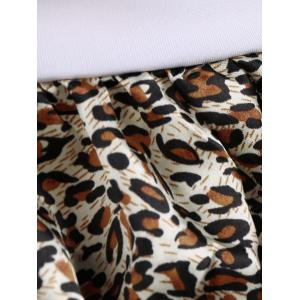 Halter Bra Lace Trim Leopard Cosplay Costume -