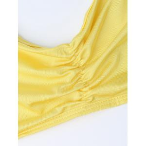 Lingeries Halter Tie Side Bra Set - YELLOW ONE SIZE