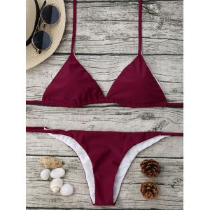 Halter Neck String Bikini Set