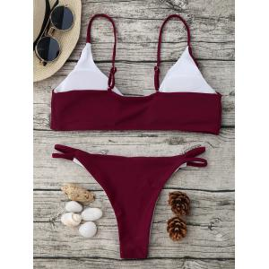 Spaghetti Strap High Cut Bikini Set -