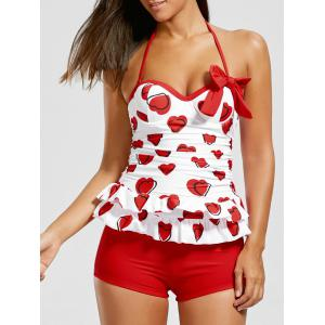 Sweetheart Tiered Skirted Tankini Set