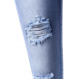 Frayed Ripped Pencil Jeans -