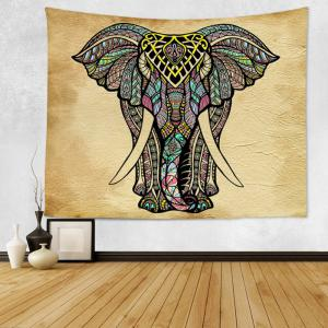 Mandala Elephant Print Tapestry Wall Hanging Art Decoration - COLORMIX W91 INCH * L71 INCH