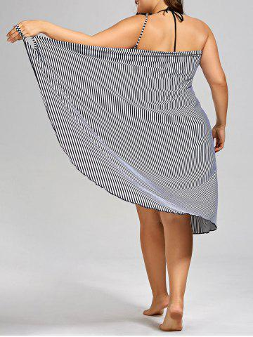 Plus Size Stripe Cover-up - Black Stripe - 2xl