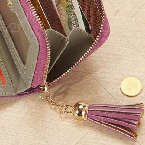 Unique Tassel Cartoon Patch Small Wallet - GRAY  Mobile