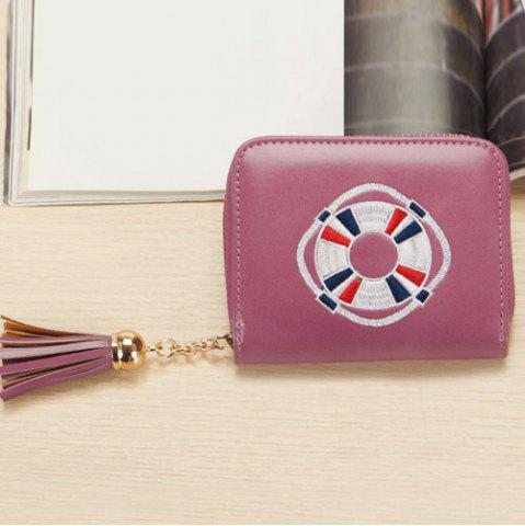 Unique Tassel Cartoon Patch Small Wallet