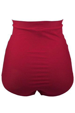 Shops High Waisted Retro Bikini Bottom - L RED Mobile