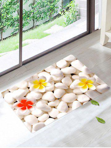 Coral Fleece Cobblestone Door Mat For Bathroom - Crystal Cream - W20 Inch * L31.5 Inch