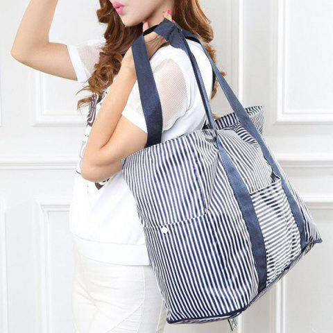 Store Foldable Nylon Striped Storage Bag