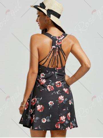 Buy Strappy Floral Sundress - M BLACK Mobile