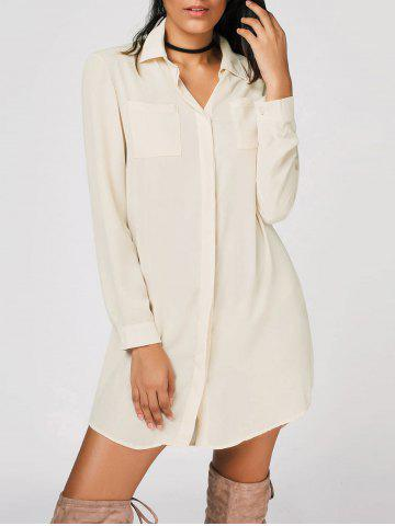 Store Button Up Casual Shirt Mini Dress
