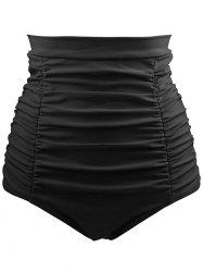 High Waisted Retro Bikini Bottom - BLACK S